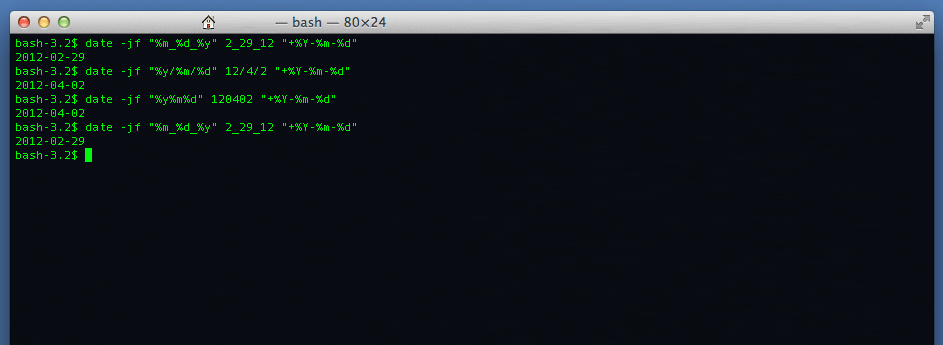Unix date conversion for ISO compliance